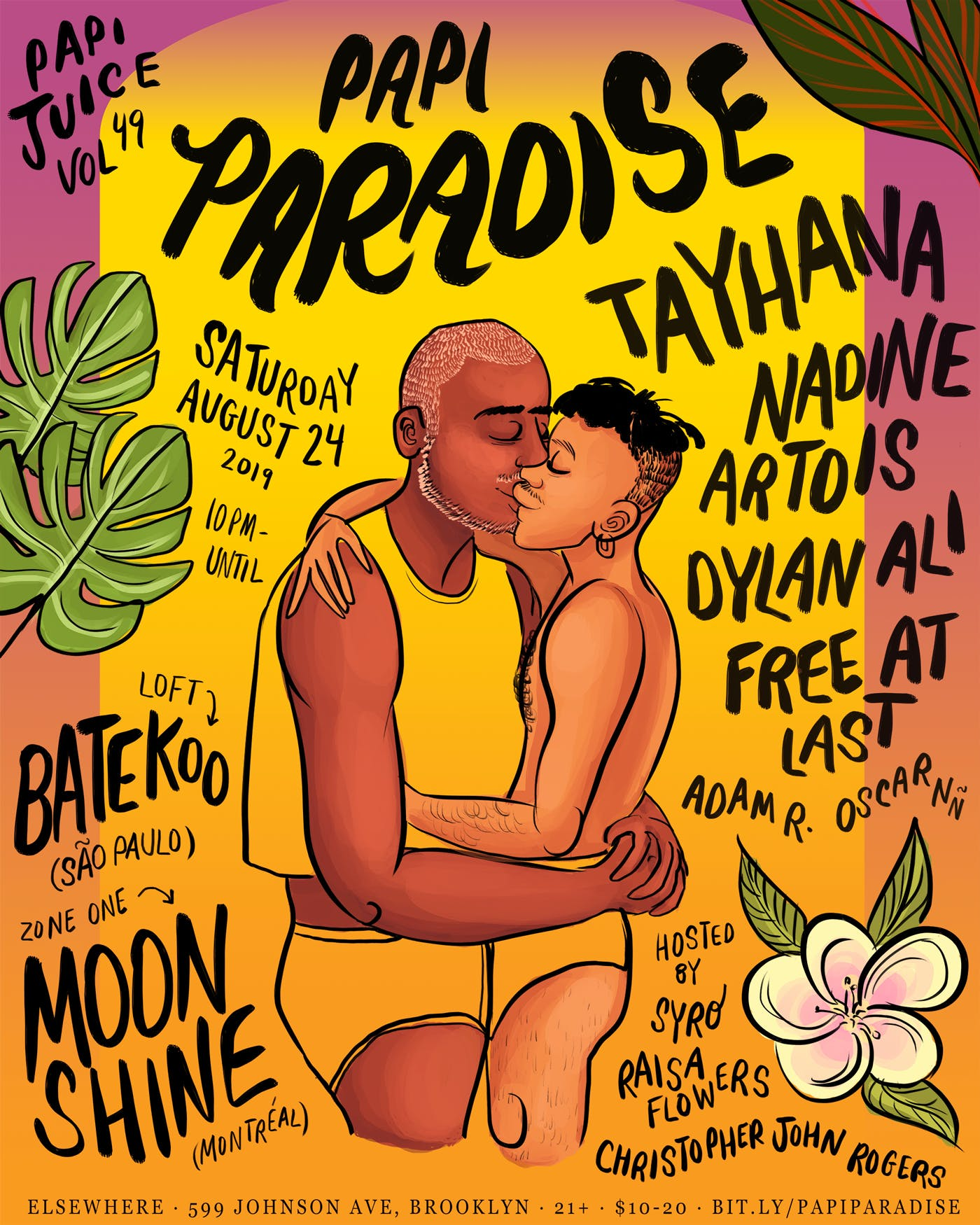 Papi Juice Vol. 49: Papi Paradise w/ Tayhana, Nadine Artois, Dylan Ali, Free At Last, Batekoo, Moon Shine and more