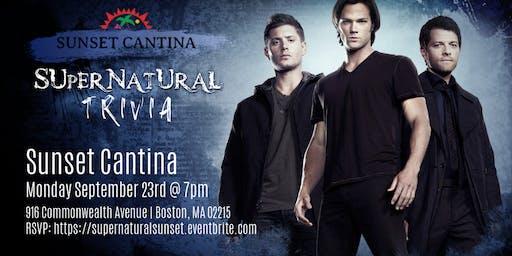 Supernatural Trivia at Sunset Cantina