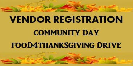 FOOD4THANKSGIVING DRIVE - VENDOR REGISTRATION
