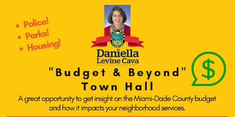 """Budget & Beyond"" Town Hall tickets"