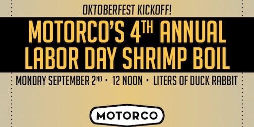 4th ANNUAL LABOR DAY SHRIMP BOIL & OKTOBERFEST KICKOFF