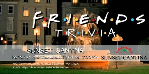 Friends Trivia at Sunset Cantina