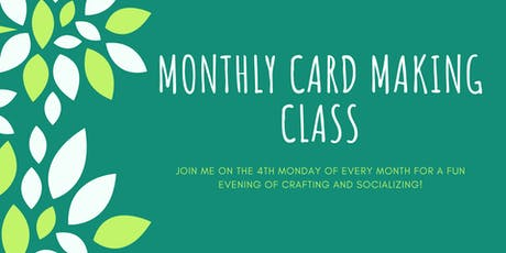 October Monthly Card Making Class tickets
