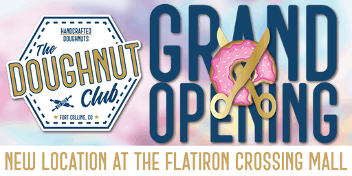 *FREE Doughnut Voucher* The Doughnut Club @ Flatiron Crossing Grand Opening
