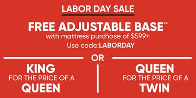 Mattress Firms Labor Day Sales Event Starting NOW!