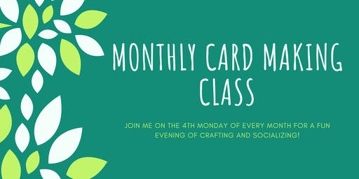 November Monthly Cardmaking Class