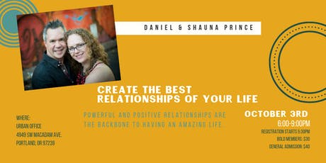 Create The Best Relationships Of Your Life tickets