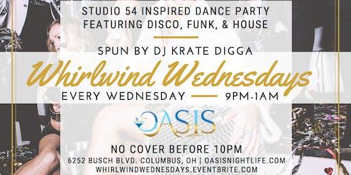 WHIRLWIND WEDNESDAYS - Studio 54 inspired, Disco, Funk Dance Night