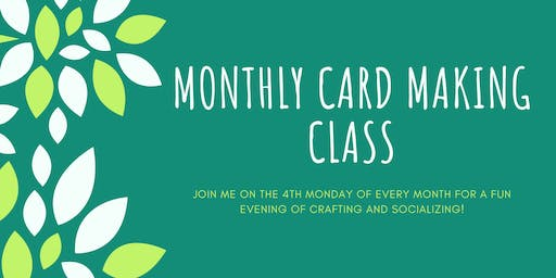 December Monthly Cardmaking Class