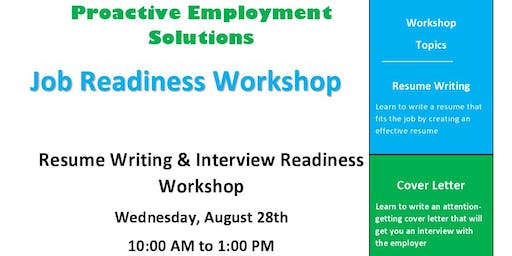 Resume Writing, Interviewing, and Cover Letter Workshop