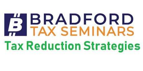 Tax Reduction Strategies - Sept 17 tickets