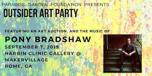 Outsider Art Celebration with Art Auction and Pony Bradshaw