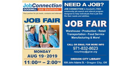 Job Fair - Oregon City - 8/19/19 tickets
