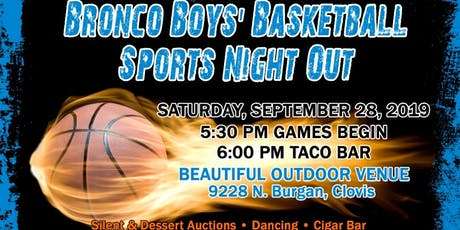 Broncos Boys' Basketball Dinner Fundraiser A Sports Night Out 2019 tickets