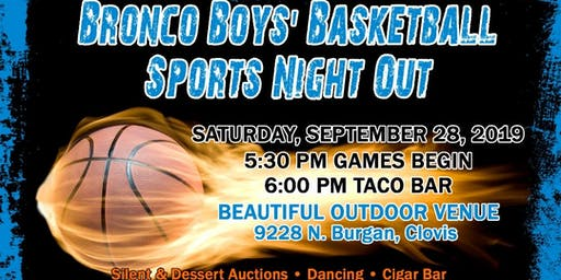 Broncos Boys' Basketball Dinner Fundraiser A Sports Night Out 2019
