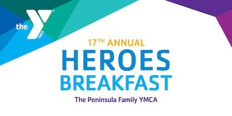 Peninsula Family YMCA's Community Heroes Breakfast tickets