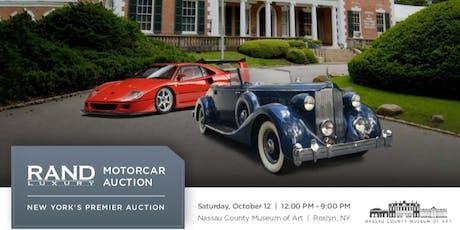 RAND Luxury Motorcar Auction tickets