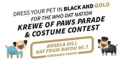 WHO DAT NATION KREWE OF PAWS PARADE & COSTUME CONTEST