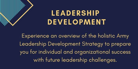 Leadership Development: Lessons from the United States Army tickets