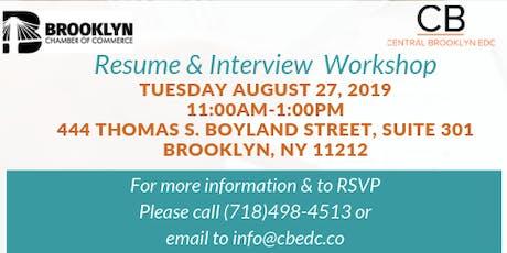 Resume & Interview Workshop tickets
