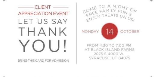 The WGR Client Appreciation Event at Black Island Farms