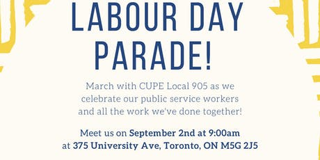 CUPE Local 905 at Labour Day Parade tickets