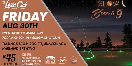Glow Golf w/ Fort Point Brewing, Juneshine and Harland Brewing tickets
