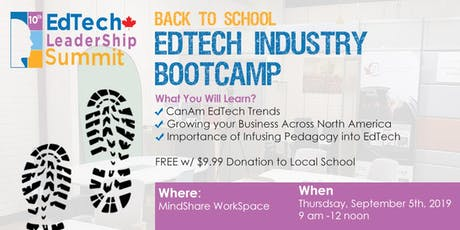 Back 2 Business Edtech Industry Bootcamp tickets