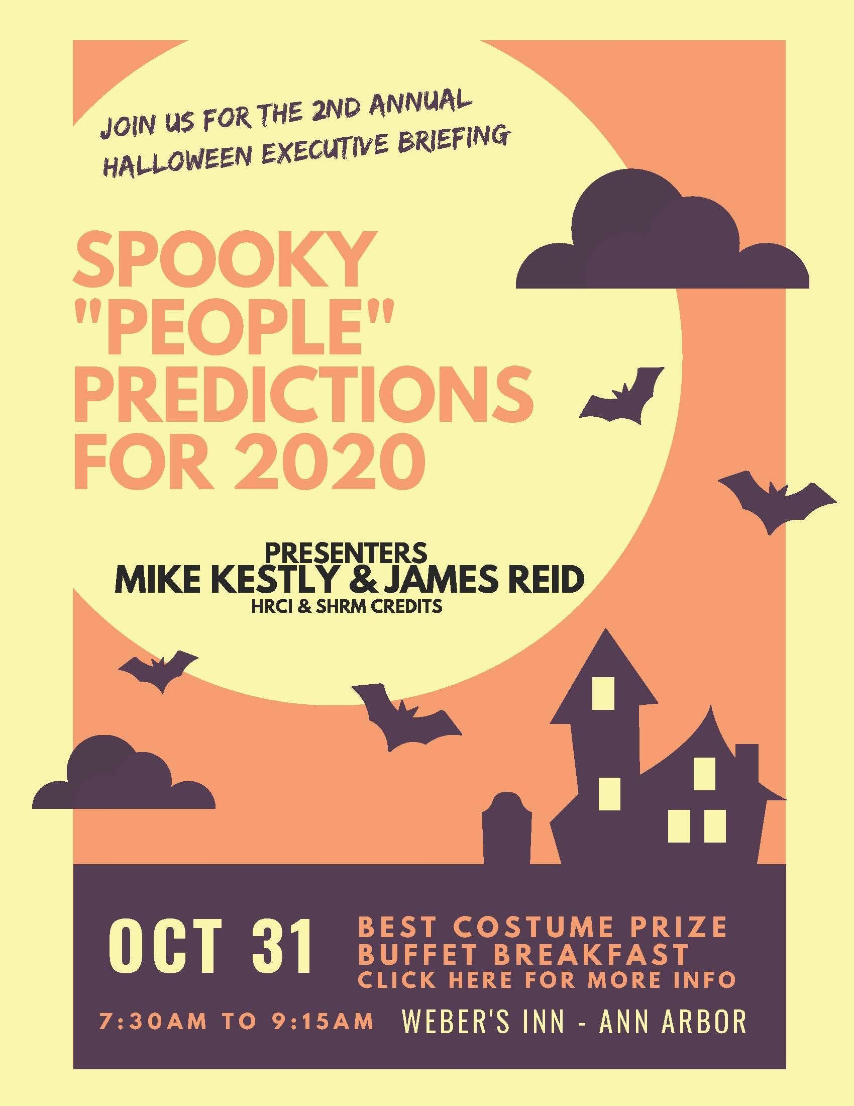 Halloween Ann Arbor 2020 Halloween Executive Briefing – Spooky People Predictions for 2020