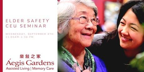 HEALTHCARE PROFESSIONALS: Elder Safety CEU Seminar tickets