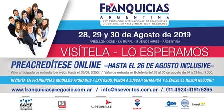 EXPO FRANQUICIAS ARGENTINA 2019 entradas