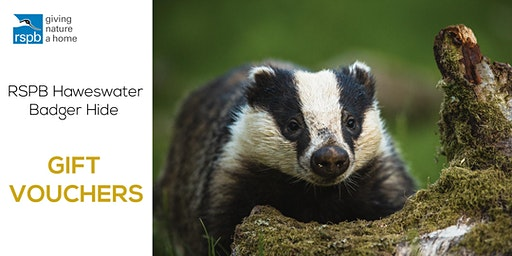 Haweswater Badger Hide | Gift Vouchers