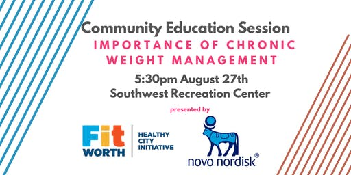 Community Education Session: Chronic Weight Management