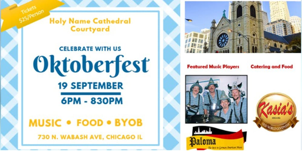 Oktoberfest at Holy Name Cathedral    Featuring - Paloma Oktoberfest Band