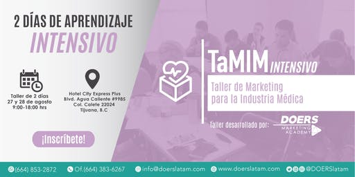 TaMIM Intensivo: Taller de Marketing para la Industria Médica