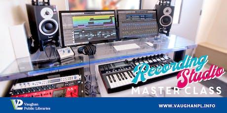 Recording Studio Master Class tickets