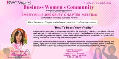 BWC Emeryville Chapter August Meeting