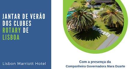 Jantar de Verão dos Clubes Rotary de Lisboa bilhetes
