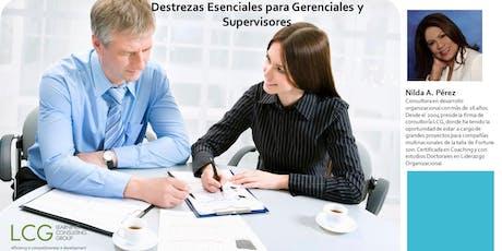 Destrezas Esenciales para Gerenciales y Supervisores tickets