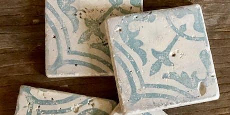 tile techniques {with jolie paint + IOD & royal designs!} tickets