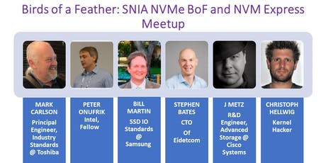 Birds of a Feather: SNIA NVMe BoF and NVM Express  Meetup tickets