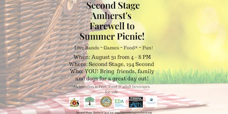 Second Stage Amherst's First Annual Farewell to Summer Picnic tickets