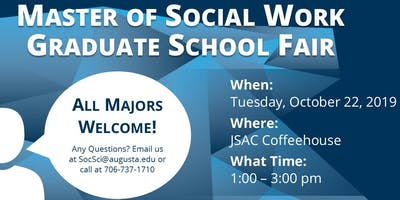 Master of Social Work Graduate School Fair 2019