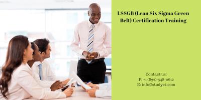 Lean Six Sigma Green Belt (LSSGB) Certification Training in Oshkosh, WI