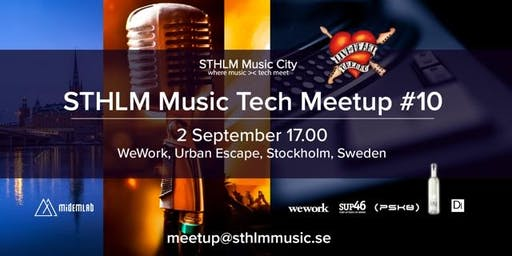 STHLM Music Tech MeetUp #10 - with Live@Heart at WeWork