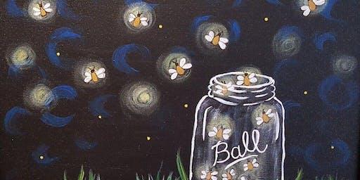 """CANVAS CLASS: """"Catchin' Fireflies"""" Ages 10+"""