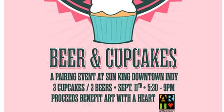 Cupcake + Sun King Beer Pairing benefitting Art With A Heart tickets