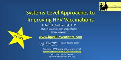 Systems-level Approaches to Improving HPV Vaccination