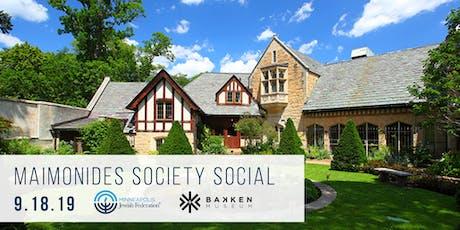 Maimonides Society Social tickets