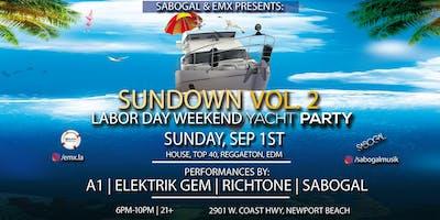 Sabogal & EMX Labor Day Yacht Party (Newport Beach)